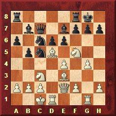Attaque vélimirovic. Position après 14...Fb7