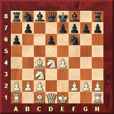 Position de la sicilienne Najdorf après 6.Fc4