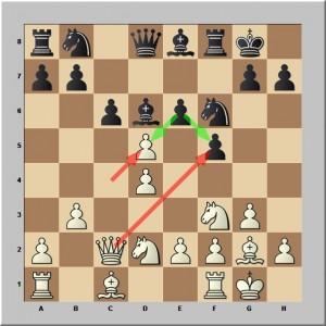 Les Blancs viennent de prendre en d5 (f5)
