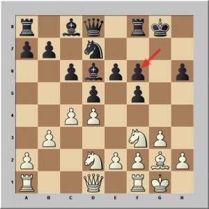Les Noirs reprennent en f6 avec g7