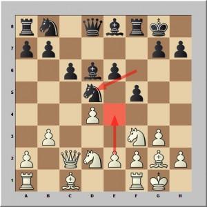 Reprise en d5 par le Cf6