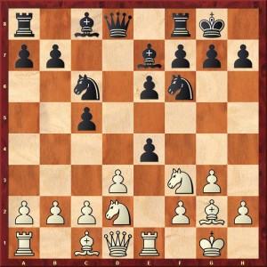 Diagramme les Noirs jouent 8...d5xe4