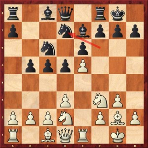 Diagramme les Noirs jouent 9...Cd7
